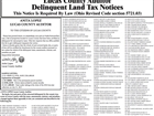 2017 Delinquent Land Taxes Lucas County